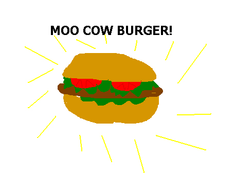 moo cow burger